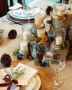 Unique-Rustic-Christmas-Table-Setting-Votive-White-Candles-On-Small-Stumps-High-And-Low-Moss-Pine-Cones-Decoration-As-Center-Piece